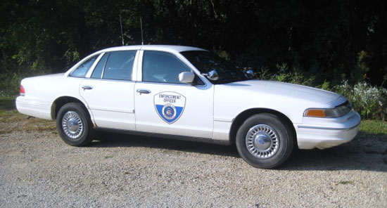 The Ford Crown Victoria sold by the town of Randall last week. /Submitted photo