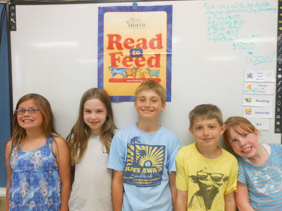 Lakewood students in Read to Feed program