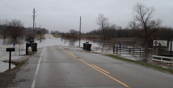 Highway JS just west of Highway V in the valley in Bristol. /West Jacobs photo