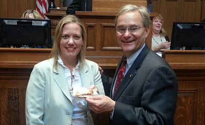 State Reps. Samantha Kerkman and Peter Barca.