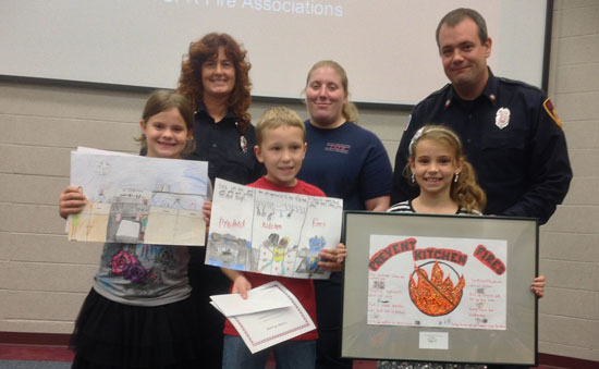 The third grade poster contest winners. /Submitted photo