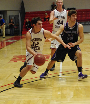 Jonah Arbet drives to the basket. /David Thoss photo