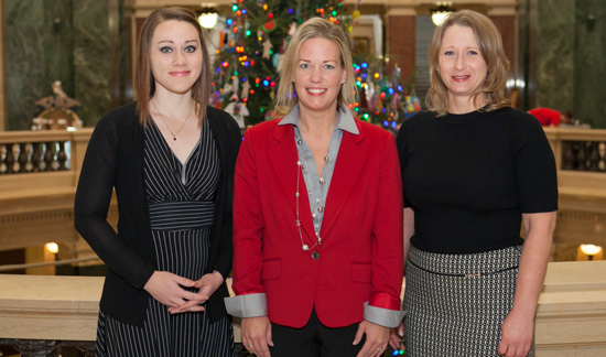 (From left) Nicole Walentowski, state Rep. Samantha Kerkman and Tami Rongstad. /Contributed photo