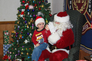 From 2013 Santa visit to the TLFD station. /westofthei.com photo