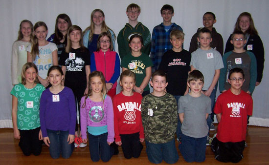 Randall School spelling bee 2014 finalists. /Submitted photo