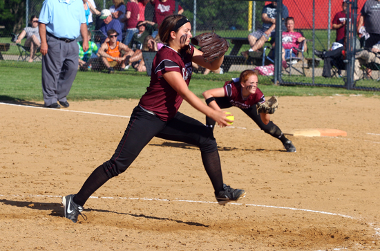 Freshman Alyssa Hrncar pitched a no-hitter.