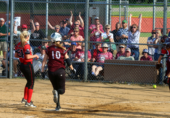 Brooke Biedrzycki ran home from third, to score the only run.