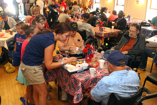 About 70 veterans attended.