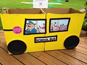 school bus donation box
