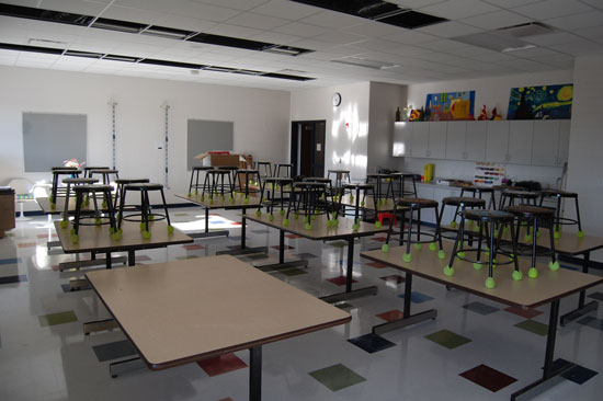 A view of the new artroom.