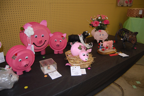 Pigs with roses