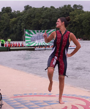 Kailey Koehler National Champion Barefooter, winner of the highest scoring barefoot act. /Photo by Lisa Neal Photography