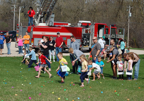 Easter egg hunt at Emerald Cove Park