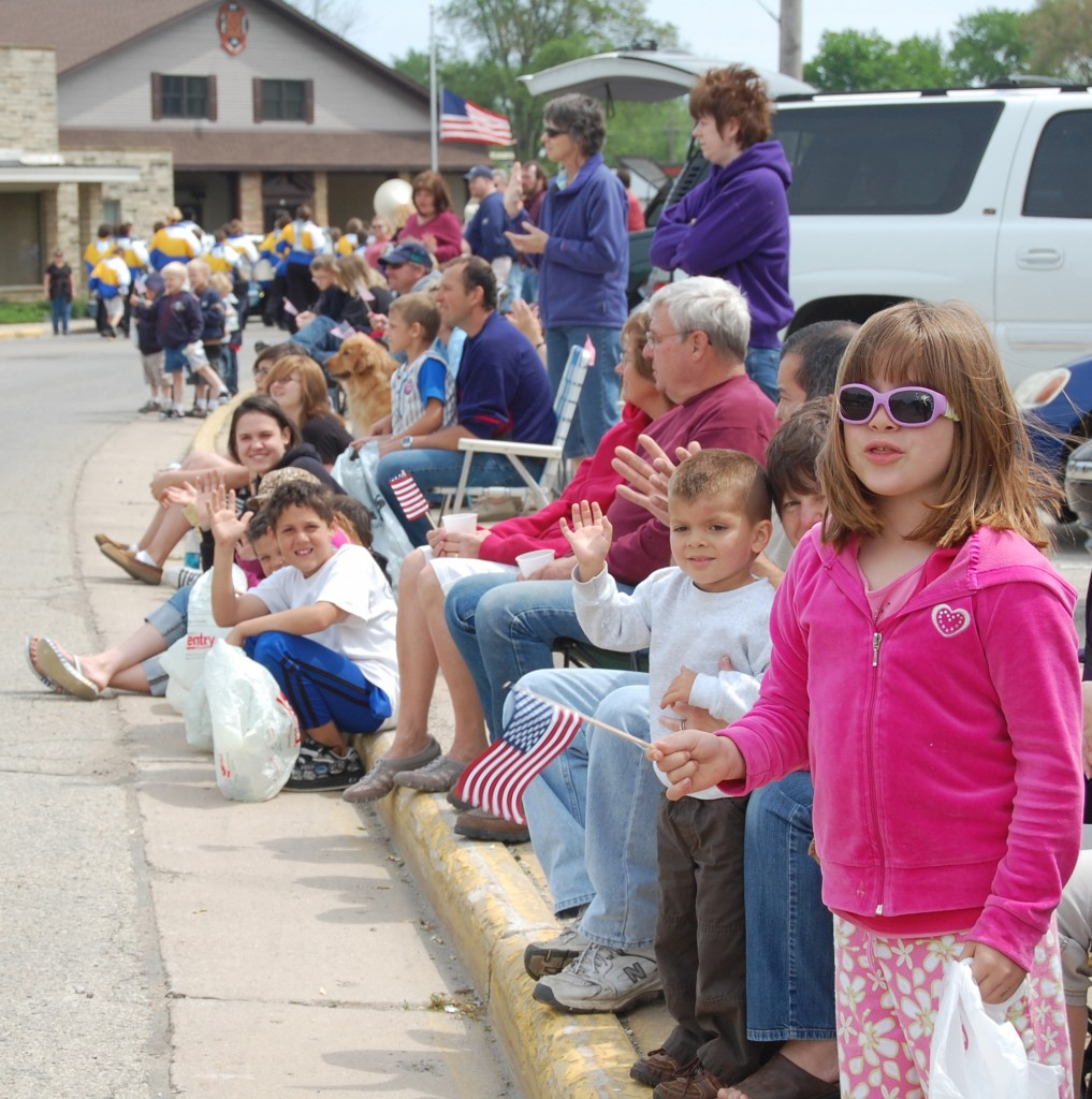 There was a big crowd along the streets of Twin Lakes to see the parade.