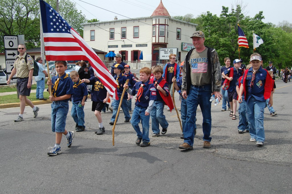 Cub Scouts from Pack 380 walked the parade.