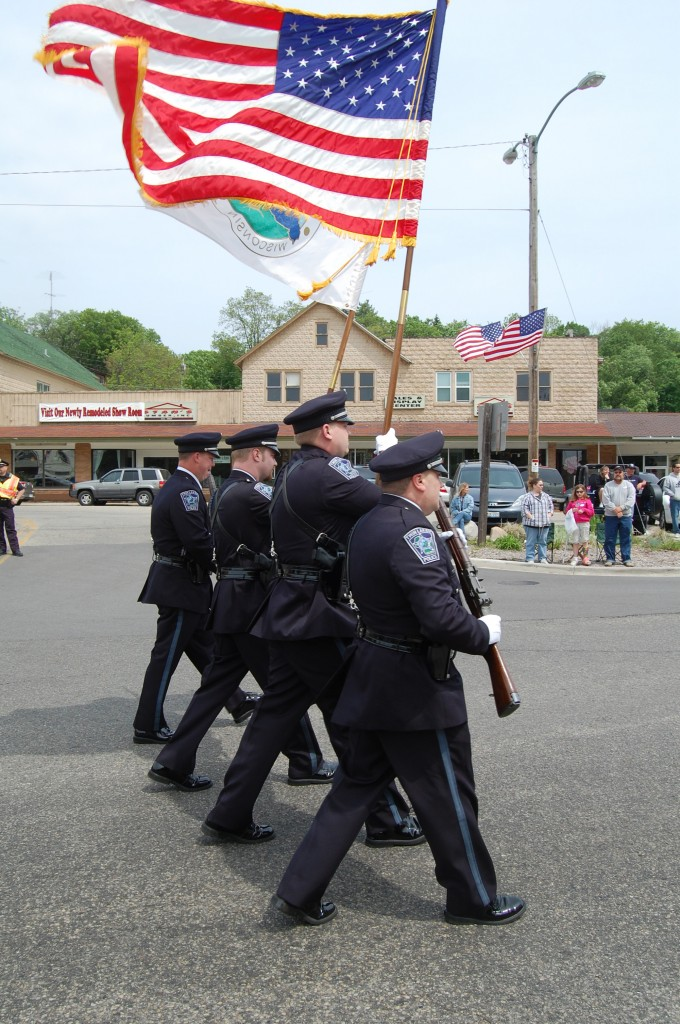 The Twin Lakes Police Department color guard.