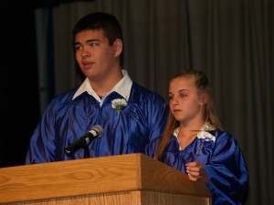 Harrison Pham and Dana Drozek Masters of Ceremony