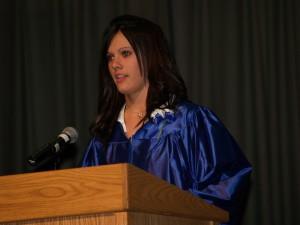 "Cassidy Hepp reading her speech, ""Celebrating the Past"""