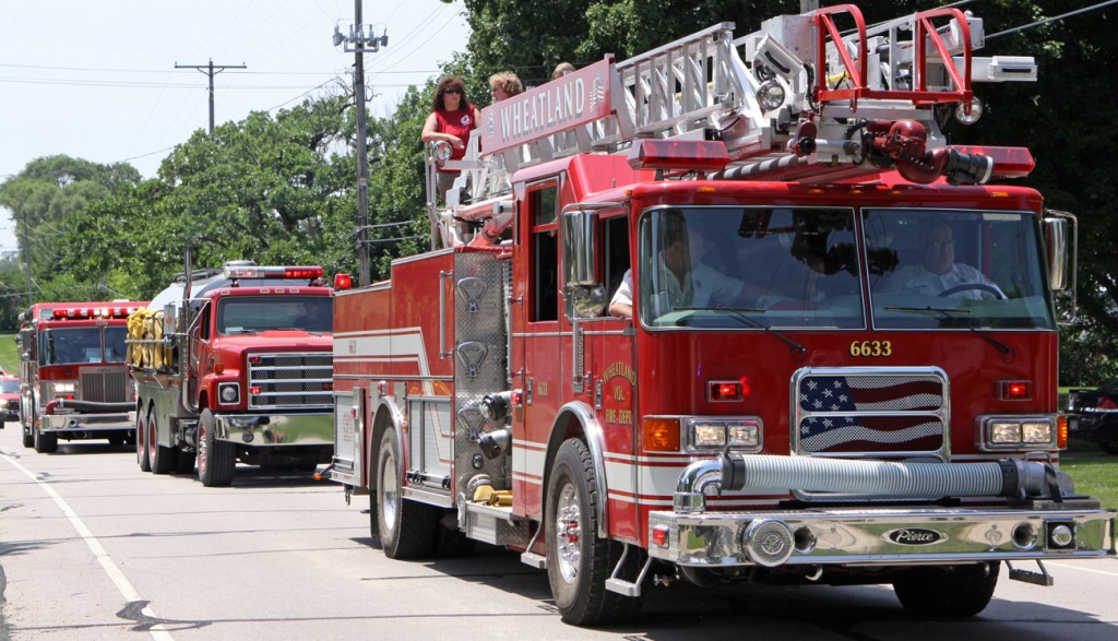 Well it was the firemen's festival, so the hometown fire department was a big part of the parade down old Highway 50.