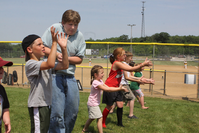 After the parade, there were kids activites, like this catch game.