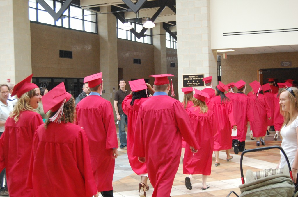 The Wilmot Class of 2009 files into the fieldhouse.