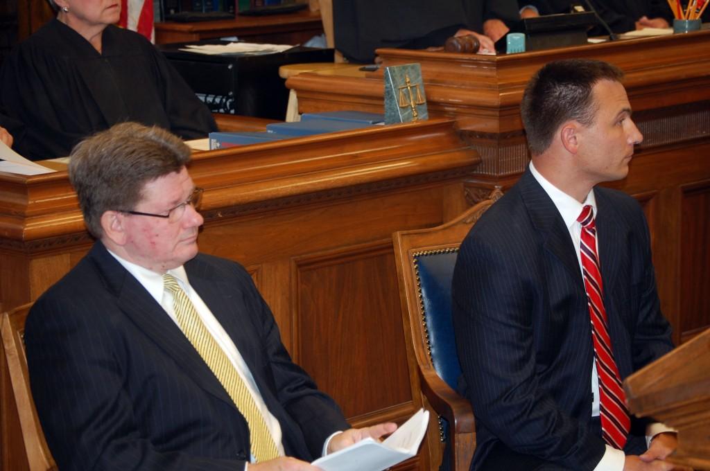 County Executive Jim Kreuser and Judge Chad Kerkman