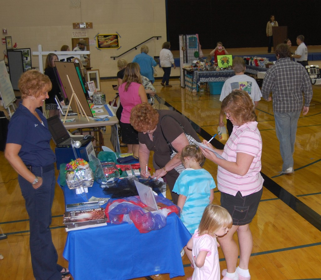 The Greater Silver Lake Chamber of Commerce's business expo was held in the Riverview School gym.