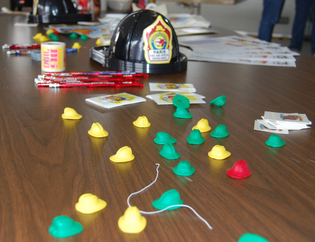 There was a lot of fun stuff for kids to take home to remember their time at the Paris Fire Department open house.