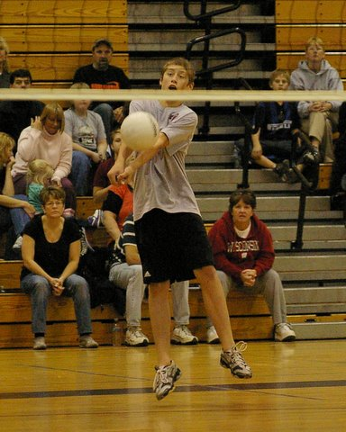Central's Mike Michelau passes during the win over Burlington./David Thoss photo