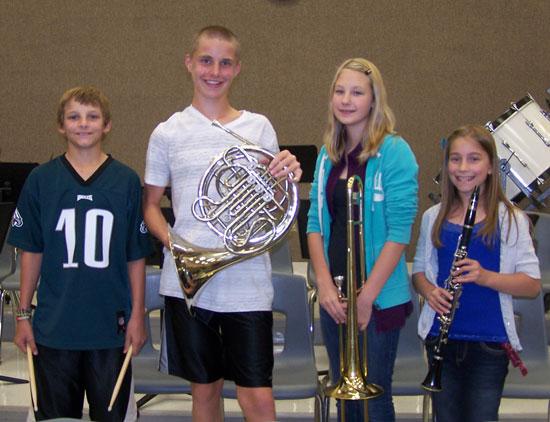 From left: Kyle Diedrich, Jake Brockway, Emily Hershelman, McKinley Boyle