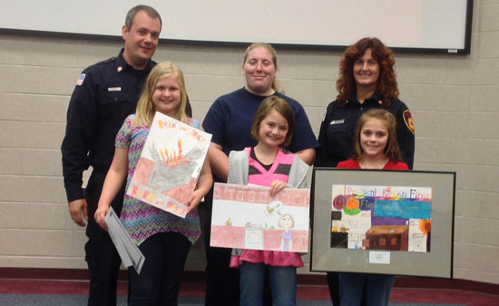 Fourth grade poster contest winners. /Submitted photo
