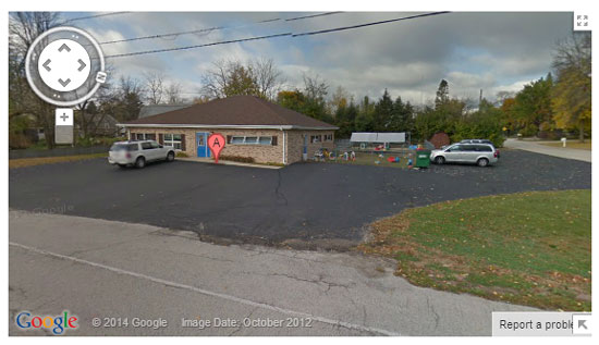 This Google Streetview photo shows the new Community Library branch on Second Street in Silver Lake.