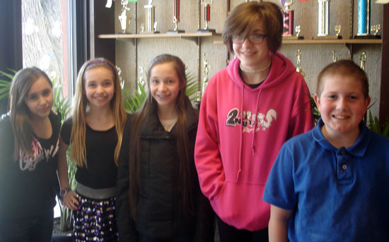 Pictured left to right…Keara Noland, Rose Laitnen, Monika Panszczyk, Korin Magrigrano, and Kevin Carpenter. /Submitted photo