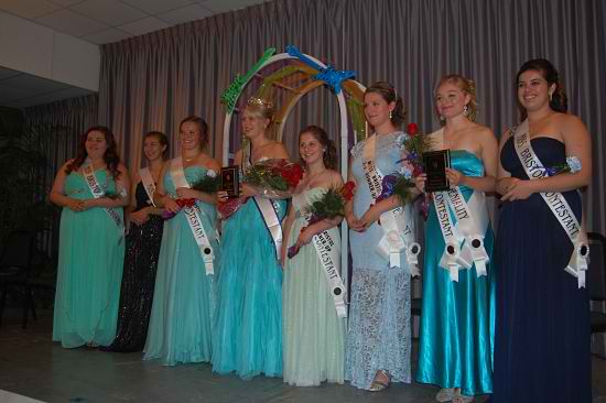 All of the Miss Bristol 2014 contestants.