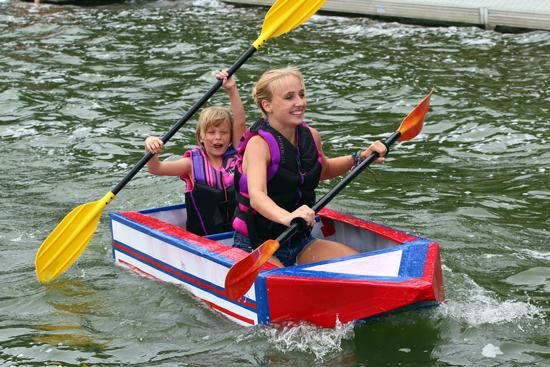 Claire Stellick 17, Geneva, and Mira Slayton 6, Twin Lakes, won the last race.