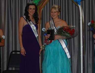 Miss Bristol 2013 Natalie LaForge (left) and Miss Bristol 2014 Emily Olson.