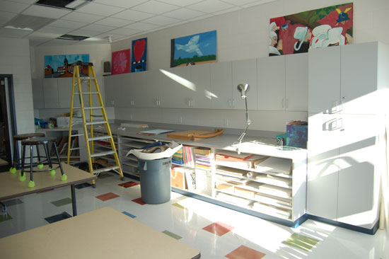 Another view of the new artroom.