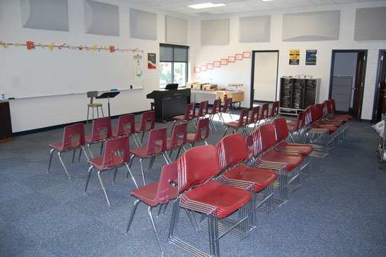The new general music room.