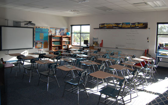 One of the grade classrooms.
