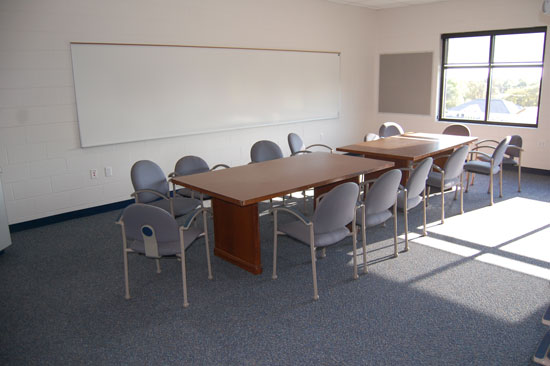 A room that will be used for staff training and meetings.
