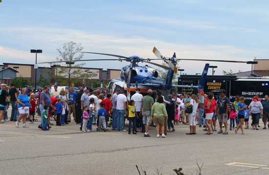 One of the highlights was Flight for Life. Kids had a chance to sit in the helicopter, until they received a call and had to leave.