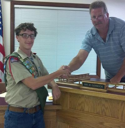 Robert Ehr, left, and Wheatland town Chairman William Glembocki. /Contributed photo