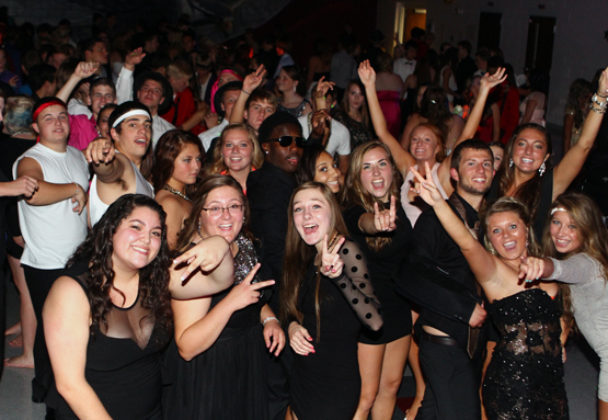 The court was presented at the Homecoming dance Saturday night.