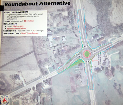 The WisDOT Highways 83 & C roundabout plan (click for larger view)