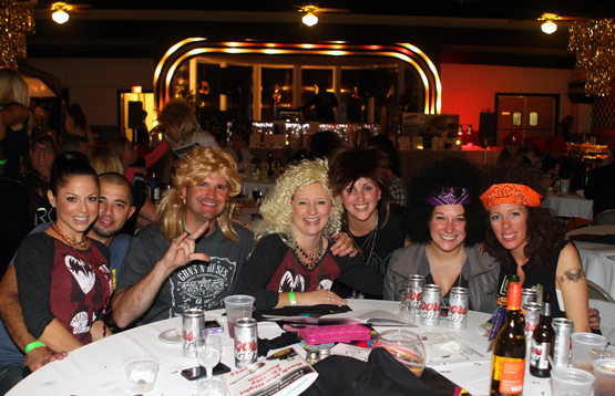 80's groupies took third in the costume contest.
