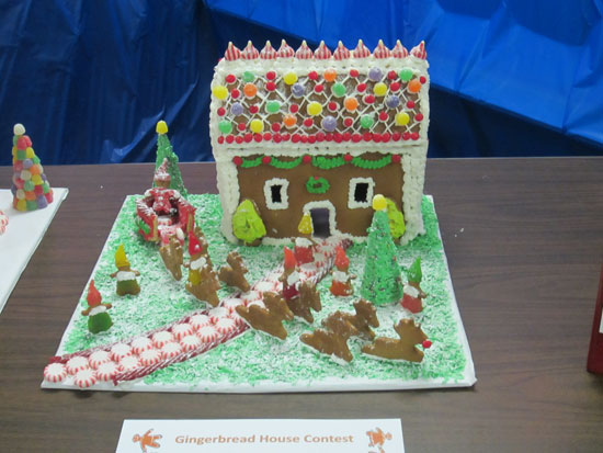 The winning entry in the gingerbread house contest. /Submitted photo