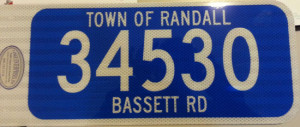 A sample 911 address sign.