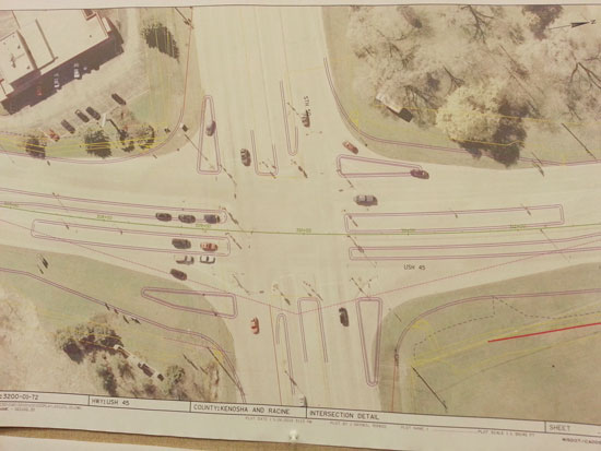 The Highways 45 and 50 intersection plan.