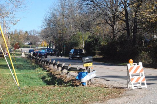 Investigators were still on the scene of the incident Sunday afternoon.