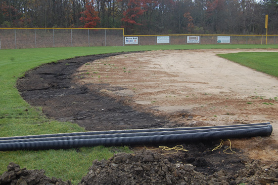 The infields at Brightondale are being extended to accommodate The Show system.